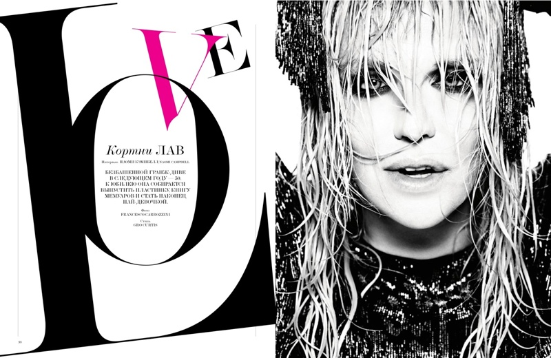courtney love1 Courtney Love Poses for Francesco Carrozzini in Interview Russia Cover Shoot