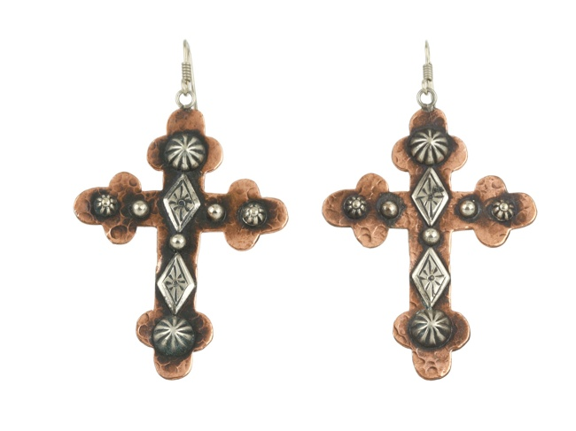 cross earrings 11 Spooky Looks for Your Last Minute Halloween Shopping