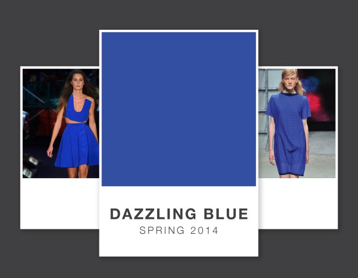 dazzling blue opener Dazzling Blue | The Pantone Color for Spring 2014 on the Runways