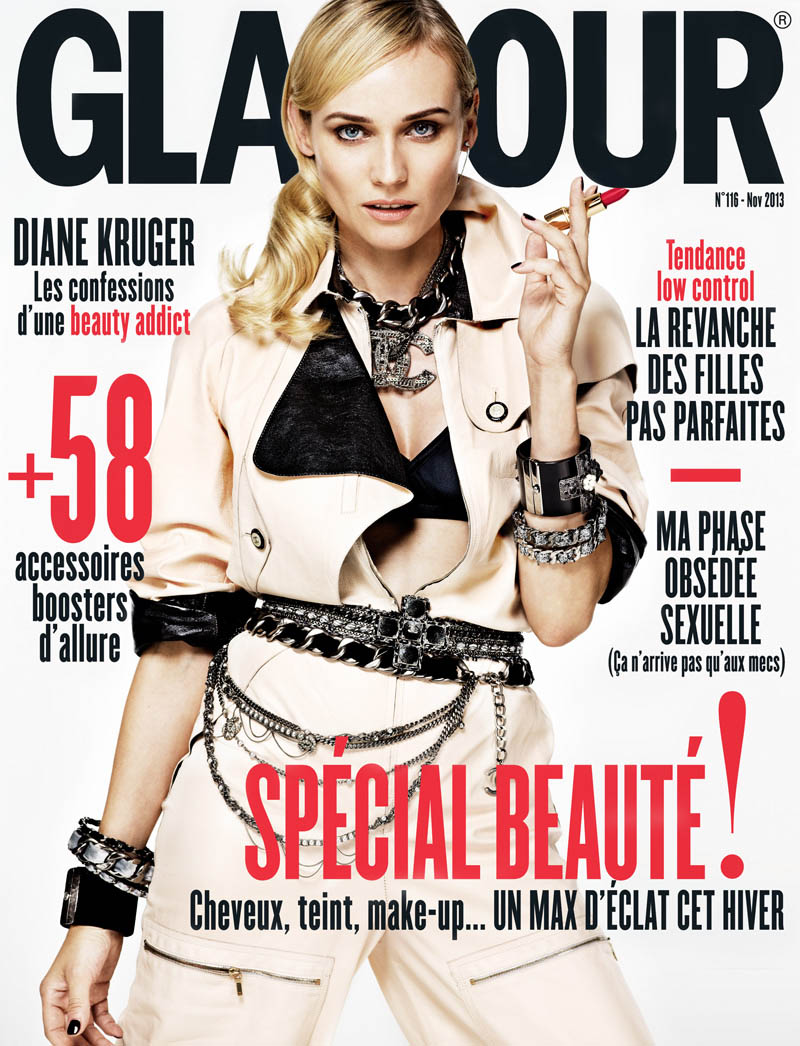 diane kruger jason kim1 Diane Kruger Wows in the November Issue of Glamour Paris by Jason Kim