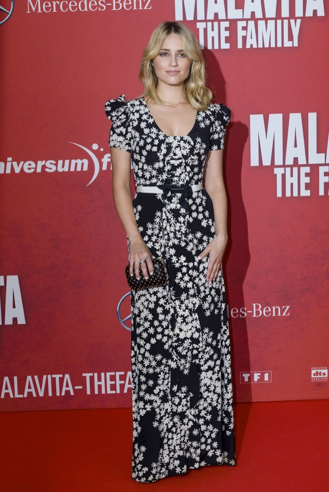 "Dianna Argon Wears Carolina Herrera at ""The Family"" Germany Premiere"