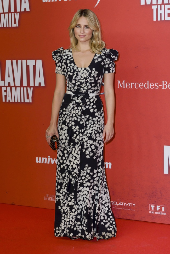 dianna argon2 Dianna Argon Wears Carolina Herrera at The Family Germany Premiere