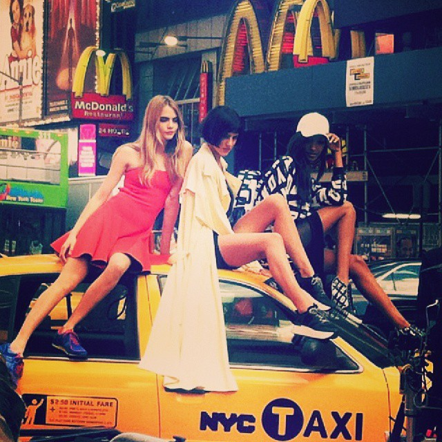 See Cara Delevingne, Jourdan Dunn + Eliza Cummings Pose for the Upcoming DKNY Ads