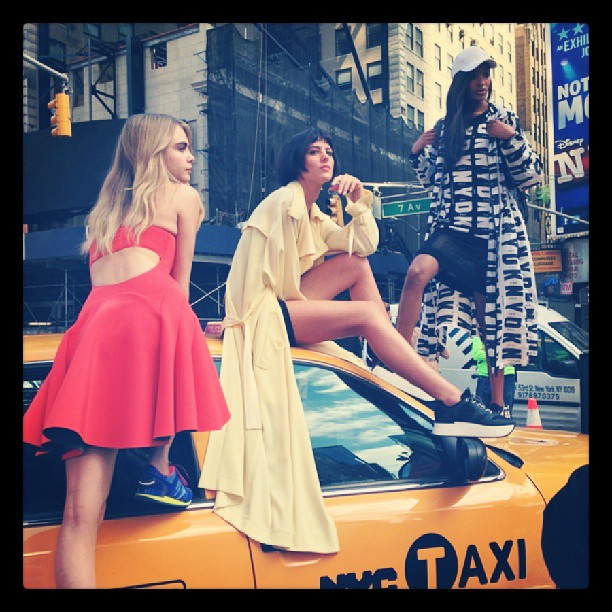 dkny instagram2 See Cara Delevingne, Jourdan Dunn + Eliza Cummings Pose for the Upcoming DKNY Ads