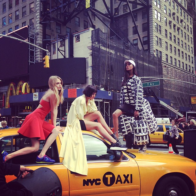 dkny instagram6 See Cara Delevingne, Jourdan Dunn + Eliza Cummings Pose for the Upcoming DKNY Ads