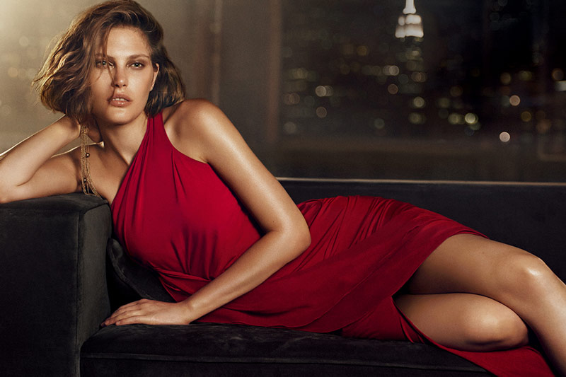 donna karan resort 2014 ads1 Catherine McNeil Cozies Up for Donna Karan Resort 2014 Campaign + Cashmere Mailer
