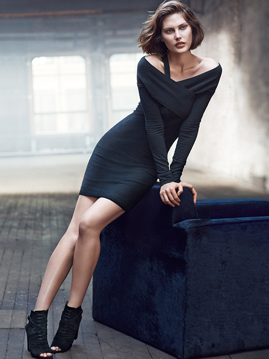 donna karan resort 2014 ads11 Catherine McNeil Cozies Up for Donna Karan Resort 2014 Campaign + Cashmere Mailer