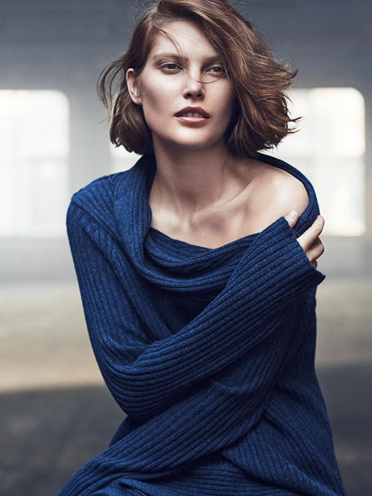 donna karan resort 2014 ads3 Catherine McNeil Cozies Up for Donna Karan Resort 2014 Campaign + Cashmere Mailer