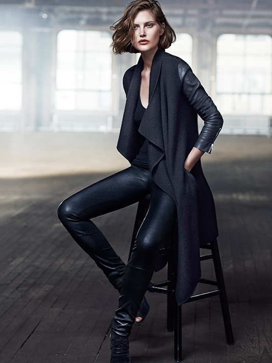 donna karan resort 2014 ads4 Catherine McNeil Cozies Up for Donna Karan Resort 2014 Campaign + Cashmere Mailer