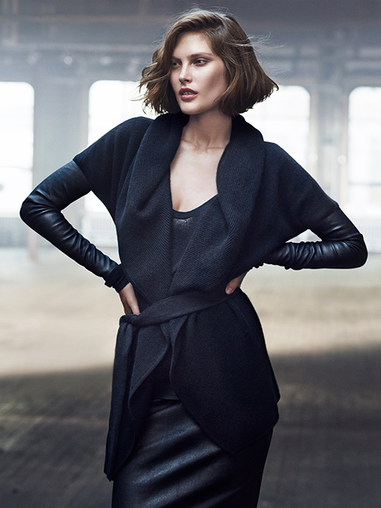 donna karan resort 2014 ads5 Catherine McNeil Cozies Up for Donna Karan Resort 2014 Campaign + Cashmere Mailer