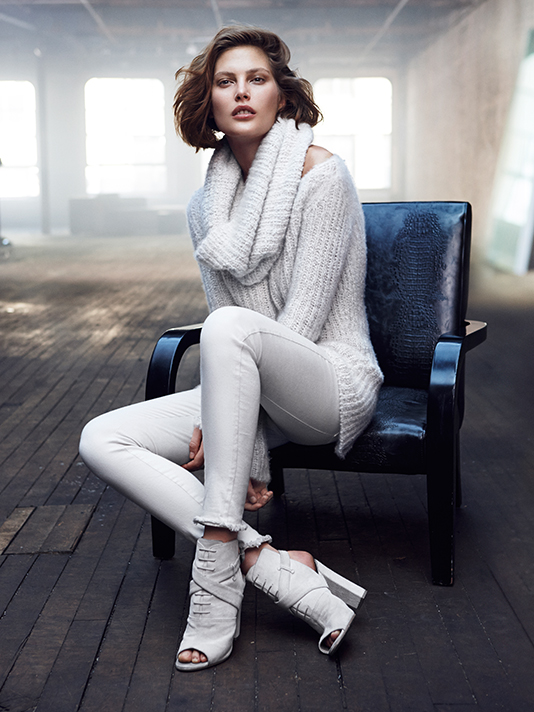 donna karan resort 2014 ads7 Catherine McNeil Cozies Up for Donna Karan Resort 2014 Campaign + Cashmere Mailer