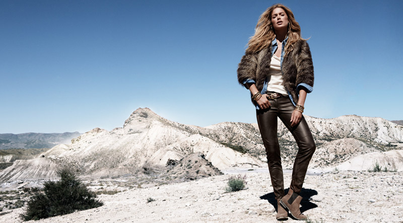 doutzen winter hm1 Doutzen Kroes Models Winter Trends for H&M