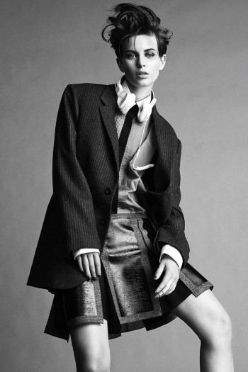 Ellinore Erichsen Rocks Androgynous Style for Madame Figaro by Jimmy Backius