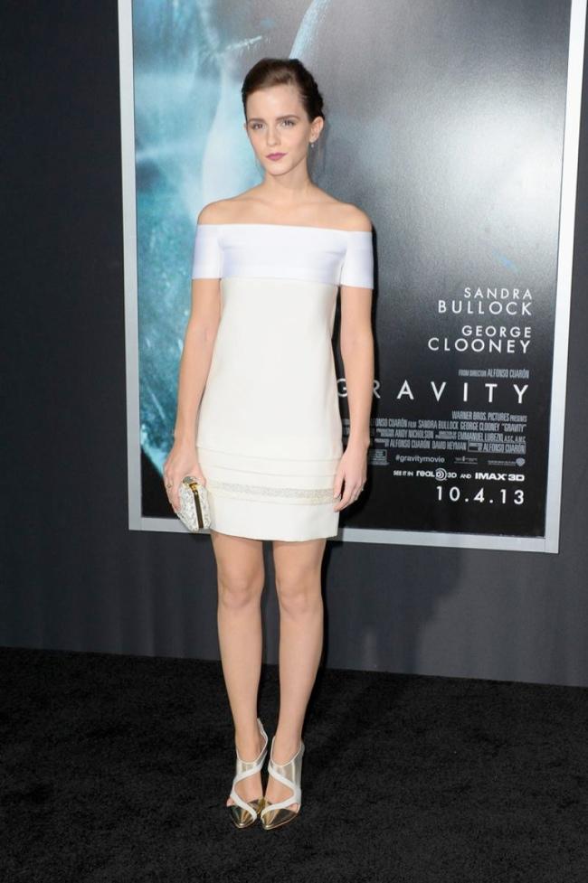 emma j mendel2 Emma Watson Wears J. Mendel at the Gravity New York Premiere