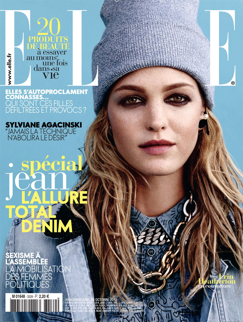 erin heatherton10 Erin Heatherton Models Denim Styles in Elle France by Bjarne Jonasson