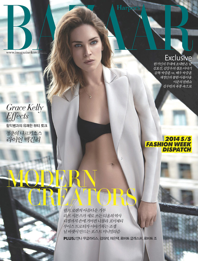 erin wasson alex cayley1 Erin Wasson Poses for Alex Cayley in Harpers Bazaar Korea Shoot