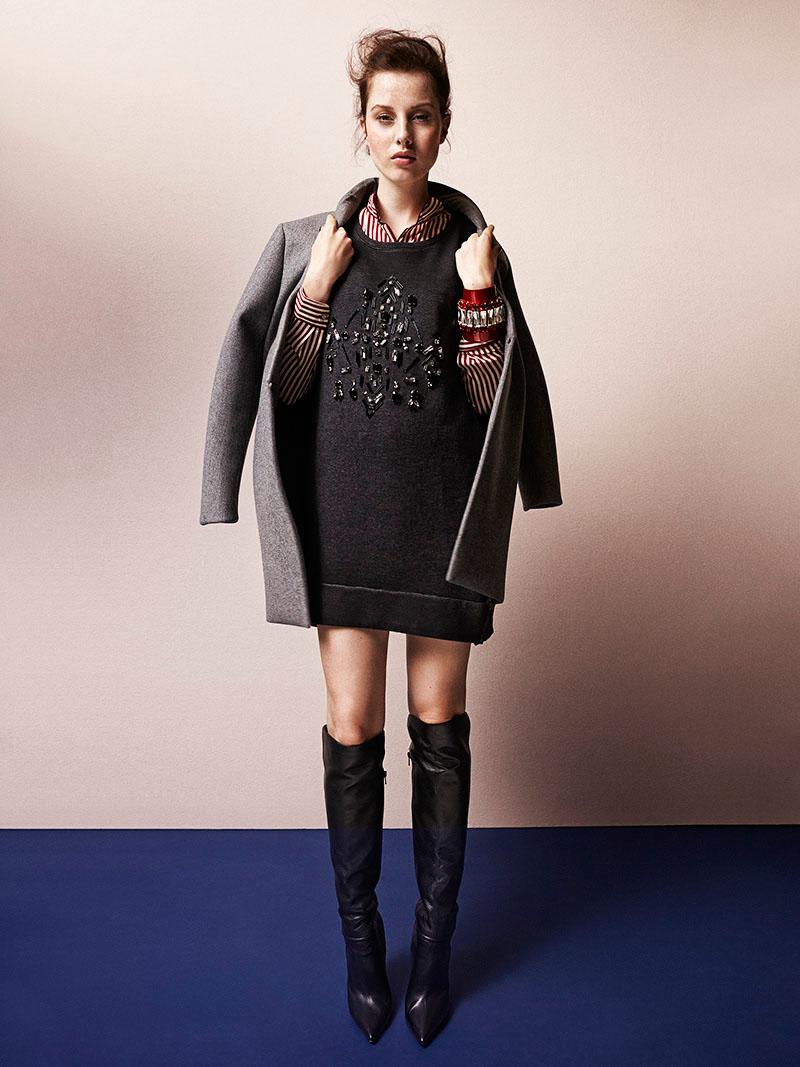 Jo Wears Stylish Sweaters for Grazia Italy Shoot by Zoltan Tombor
