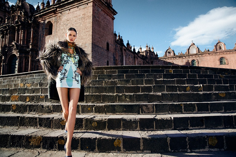 flavia oliveira2 Flavia de Oliveira Stuns in Perú for Woman Shoot by Richard Ramos