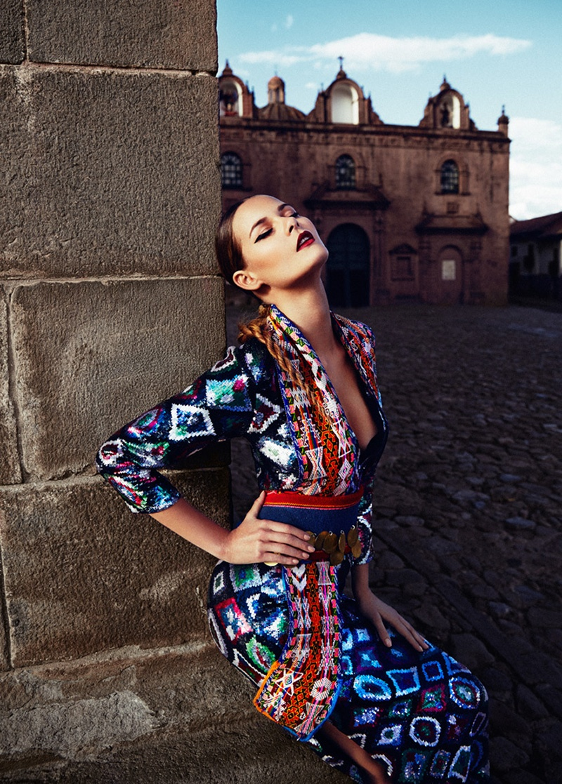 flavia oliveira6 Flavia de Oliveira Stuns in Perú for Woman Shoot by Richard Ramos