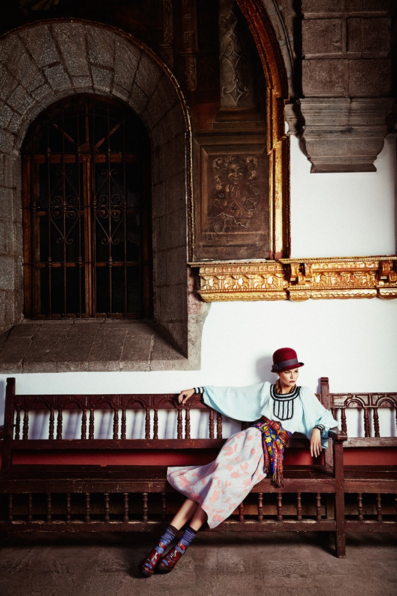 Flavia de Oliveira Stuns in Perú for Woman Shoot by Richard Ramos