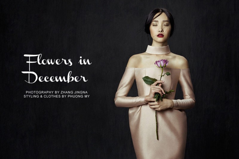 flowers zhang jingna0 800x533 Kwak Ji Young by Zhang Jingna in Flowers in December for Fashion Gone Rogue