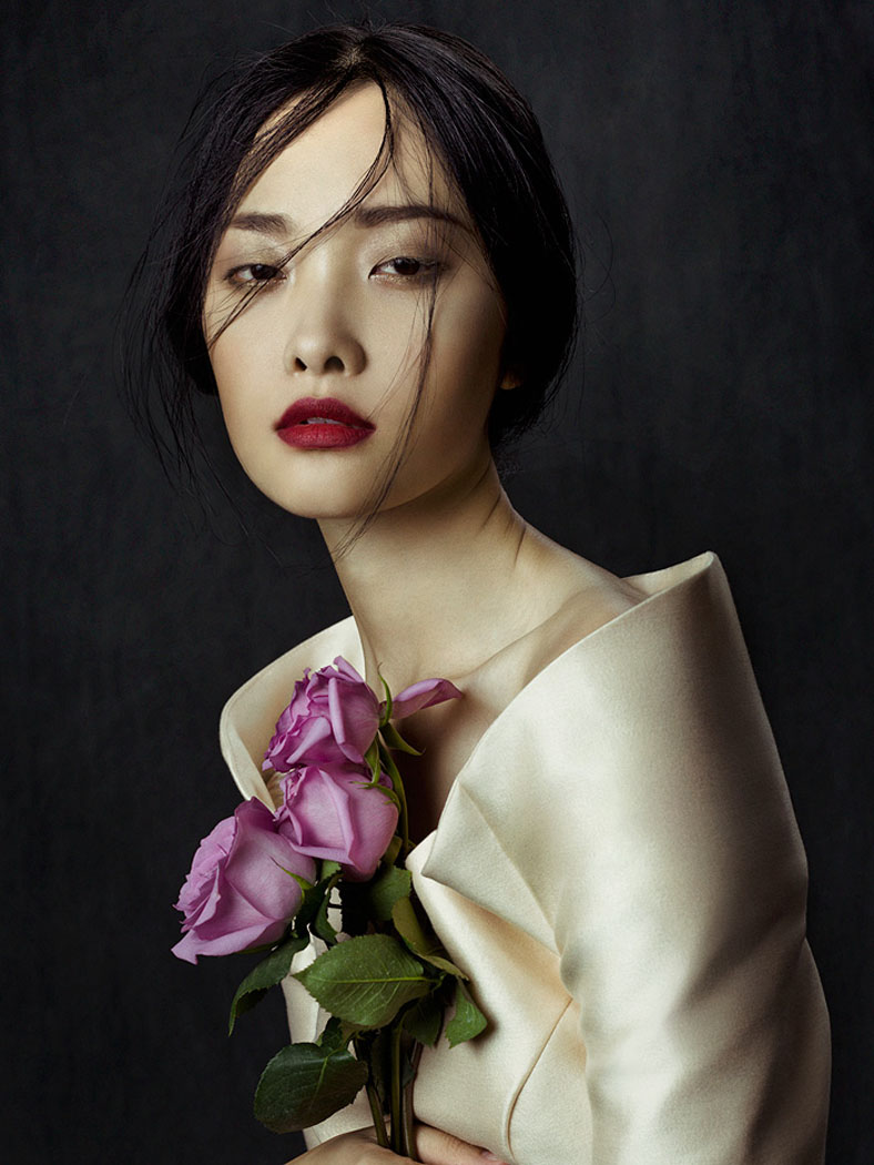 flowers zhang jingna2 Kwak Ji Young by Zhang Jingna in Flowers in December for Fashion Gone Rogue