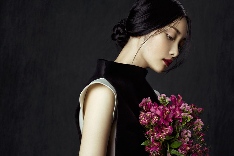 flowers zhang jingna3 Kwak Ji Young by Zhang Jingna in Flowers in December for Fashion Gone Rogue