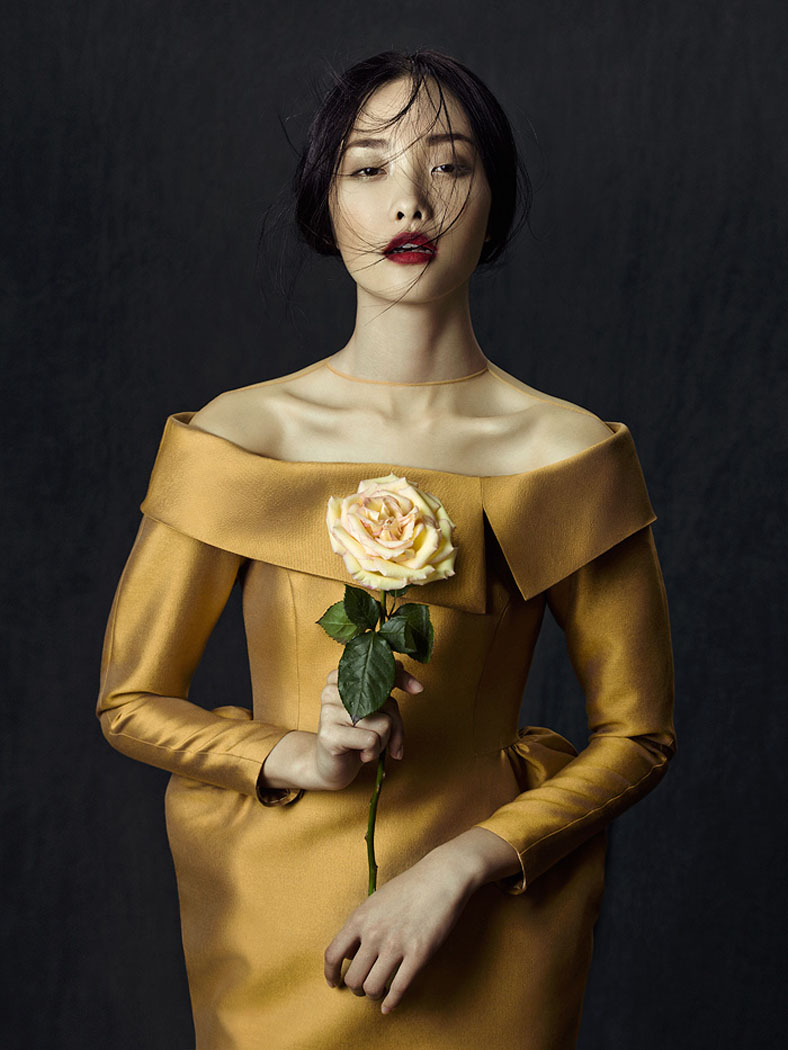 flowers zhang jingna5 Kwak Ji Young by Zhang Jingna in Flowers in December for Fashion Gone Rogue