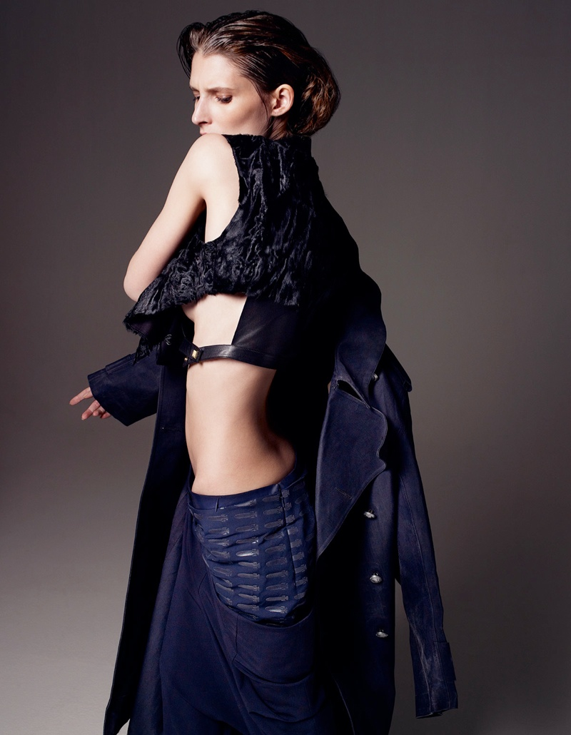 franzi gianluca fontana6 Marie Piovesan Wears Draped Style in W Korea Shoot by Gianluca Fontana