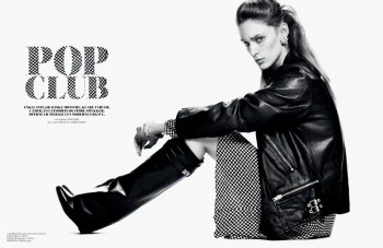 Franzi Mueller Pops in Cover Magazine Spread by Jonas Bie