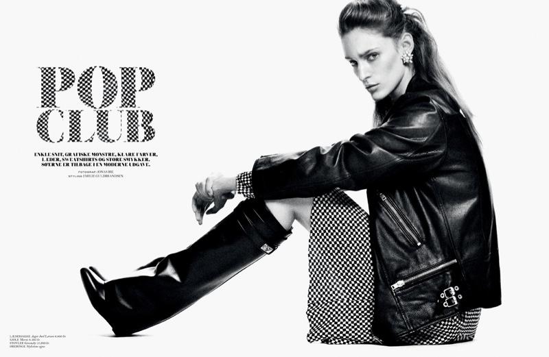 Franzi Mueller Pops in Cover Magazine Spread by Jonas Bie