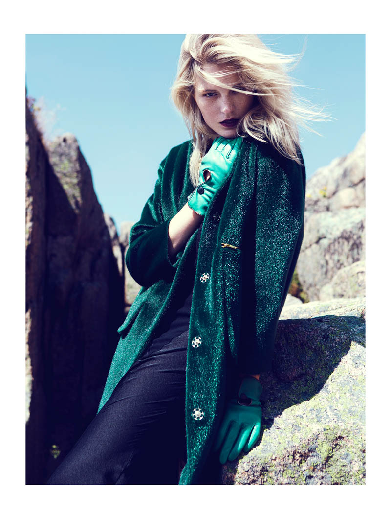 fredrik wannerstedt3 Linnea Regander Embraces the Outdoors for Elle Serbia by Fredrik Wannerstedt