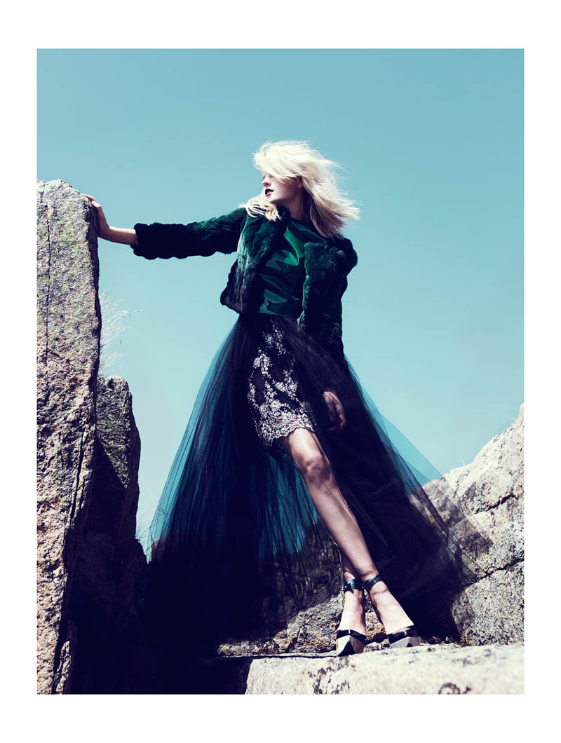 fredrik wannerstedt4 Linnea Regander Embraces the Outdoors for Elle Serbia by Fredrik Wannerstedt