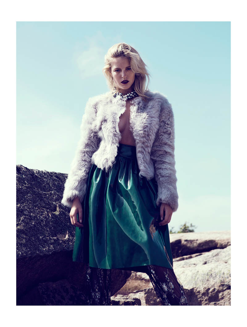 Linnea Regander Embraces the Outdoors for Elle Serbia by Fredrik Wannerstedt