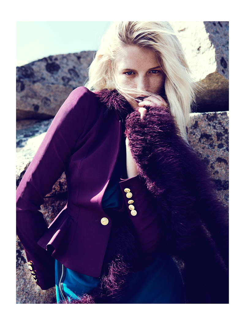 fredrik wannerstedt6 Linnea Regander Embraces the Outdoors for Elle Serbia by Fredrik Wannerstedt