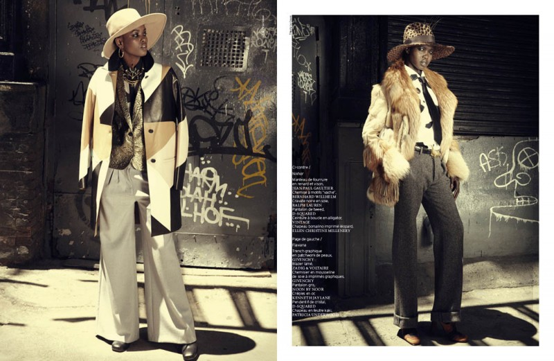 french revue harlem2 800x521 Nykhor & Flaviana Wear Retro Style in French Revue de Modes by Thierry Le Goues