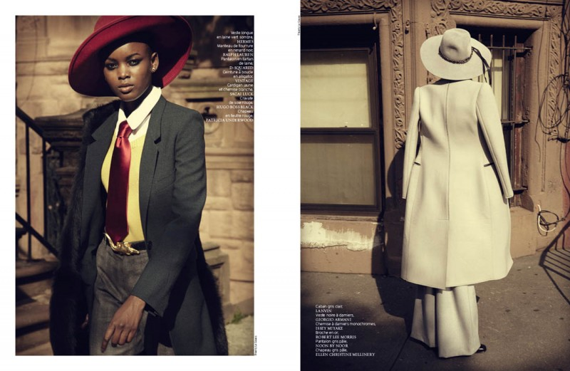 french revue harlem6 800x521 Nykhor & Flaviana Wear Retro Style in French Revue de Modes by Thierry Le Goues
