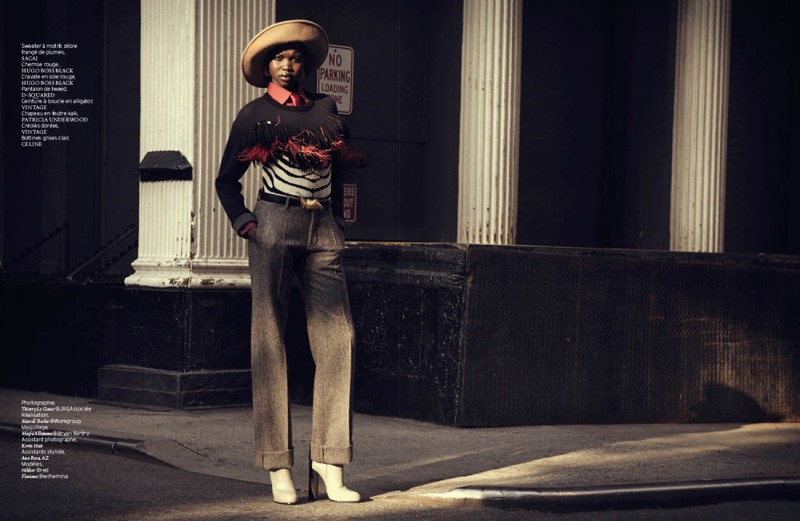 Nykhor & Flaviana Wear Retro Style in French Revue de Modes by Thierry Le Goues