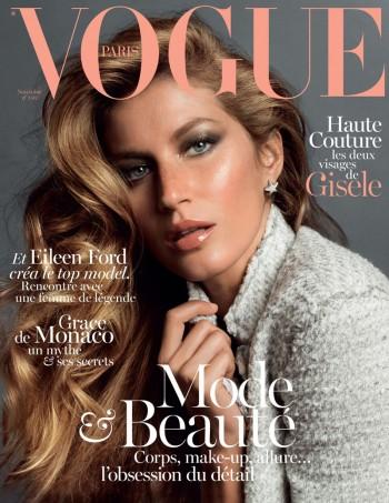 Gisele Bundchen Stuns on the November 2013 Cover of Vogue Paris