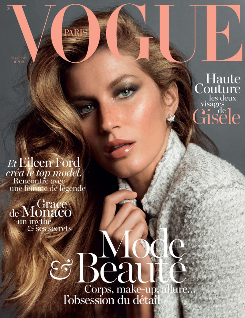 gisele vogue france cover Gisele Bundchen Stuns on the November 2013 Cover of Vogue Paris