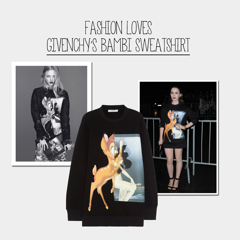 givenchy bambi collage Fall Must Have | Givenchys Bambi Sweatshirt