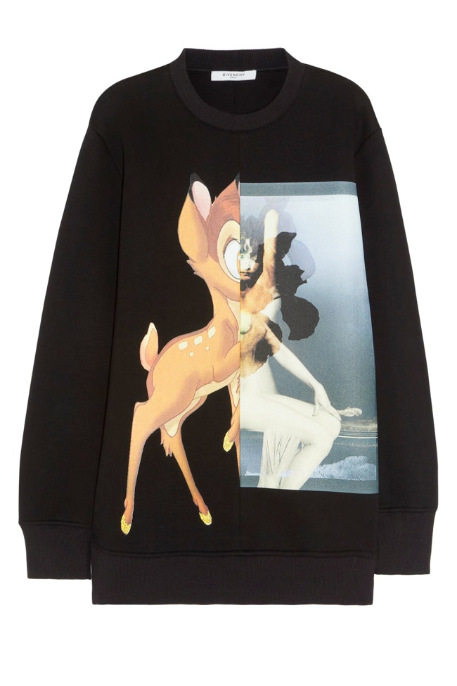givenchy sweatshirt product shot Fall Must Have | Givenchys Bambi Sweatshirt