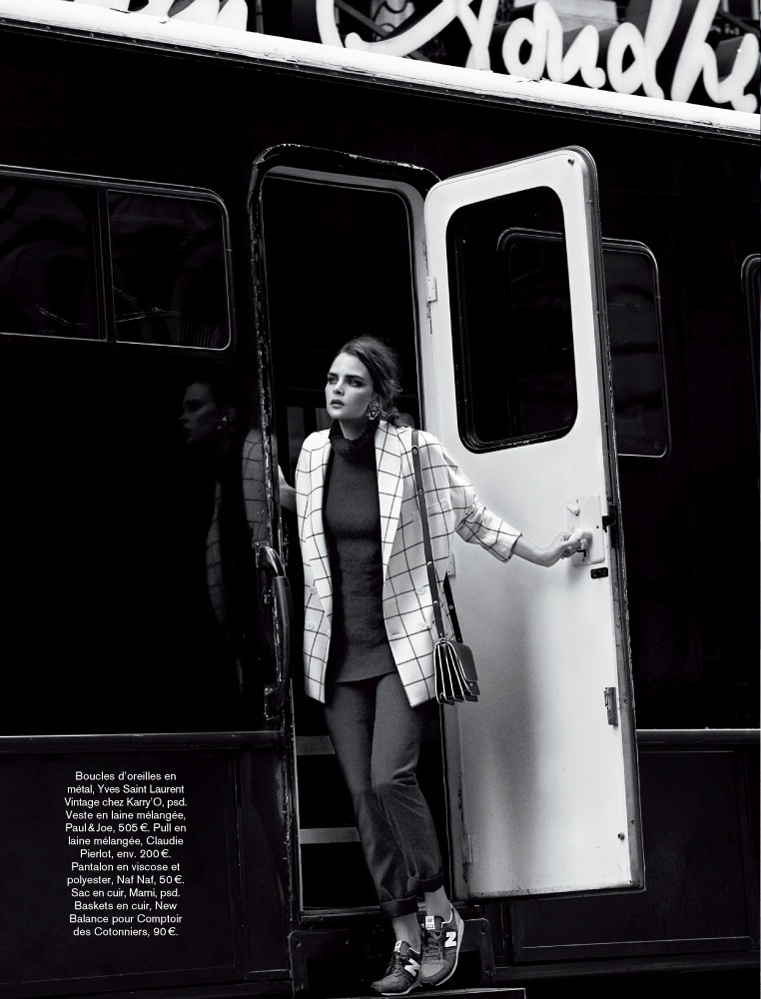 Sam Laskey is a Girl On the Go for Glamour France by Adrian Mesko