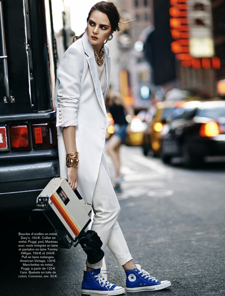glamour adrian mesko5 Sam Laskey is a Girl On the Go for Glamour France by Adrian Mesko