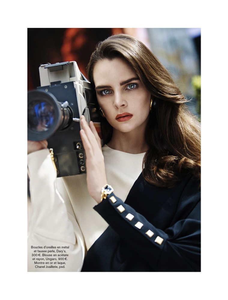 glamour adrian mesko6 Sam Laskey is a Girl On the Go for Glamour France by Adrian Mesko