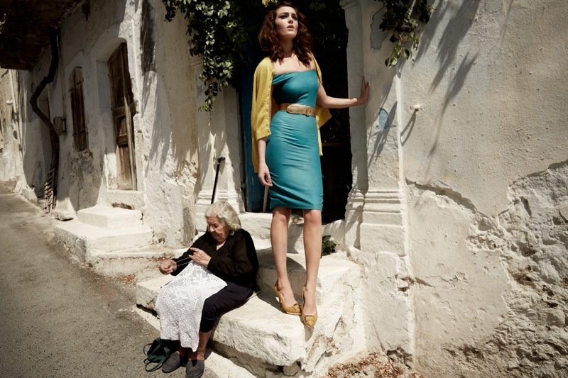 greece fashion shoot3 Charlotte Pallister Poses in Greece for Grazia Germany #40