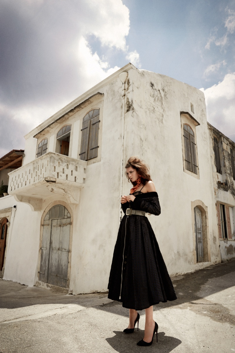 greece fashion shoot4 Charlotte Pallister Poses in Greece for Grazia Germany #40