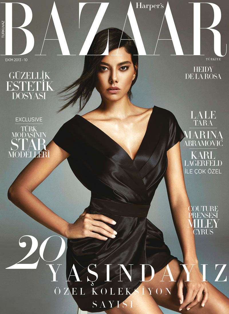 heidy de la rosa1 Heidy De la Rosa Stars in Harpers Bazaar Turkey October 2013 by Ergin Turunc