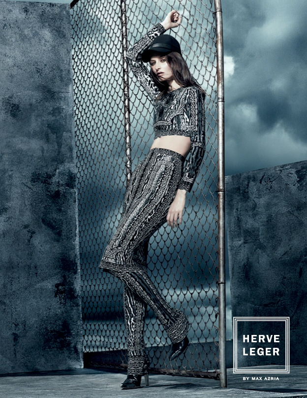 Suzanne Diaz Stars in Herve Leger by Max Azria's Fall 2013 Campaign