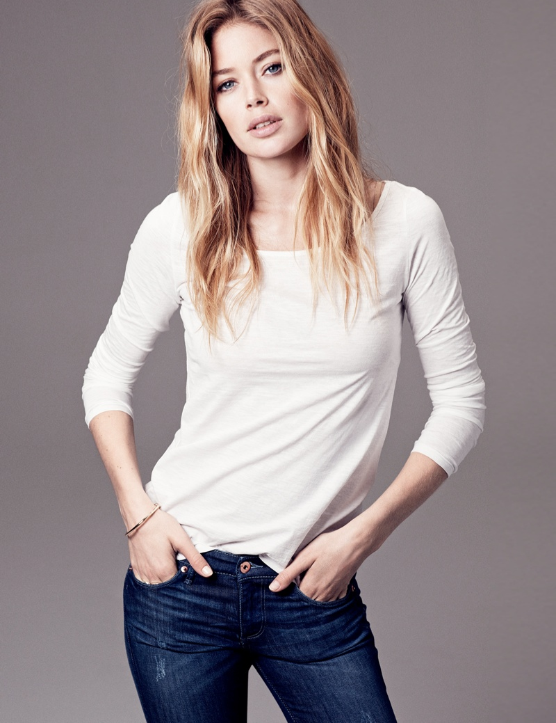 hm basics2 Doutzen Kroes Wears the Basics for H&M Style Update